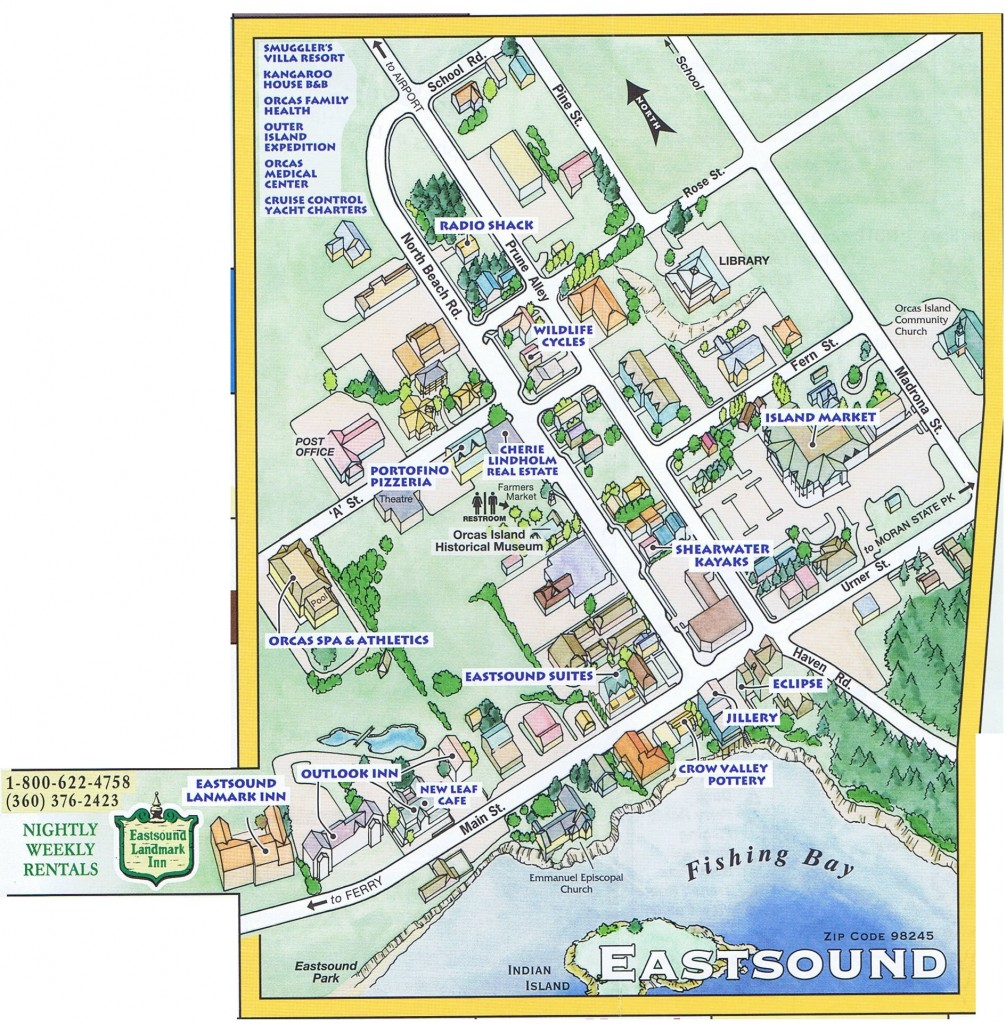 Map Of Eastsound Orcas Island